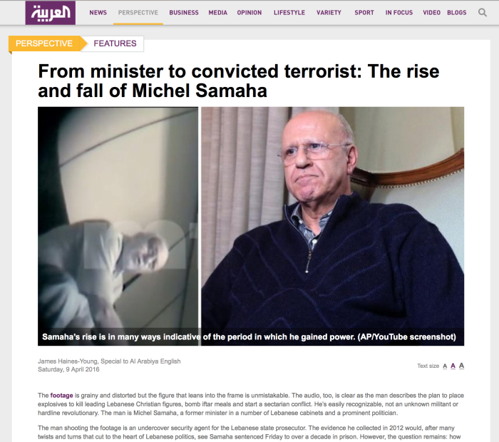 Rise and fall of Michel Samaha: From minister to terrorist