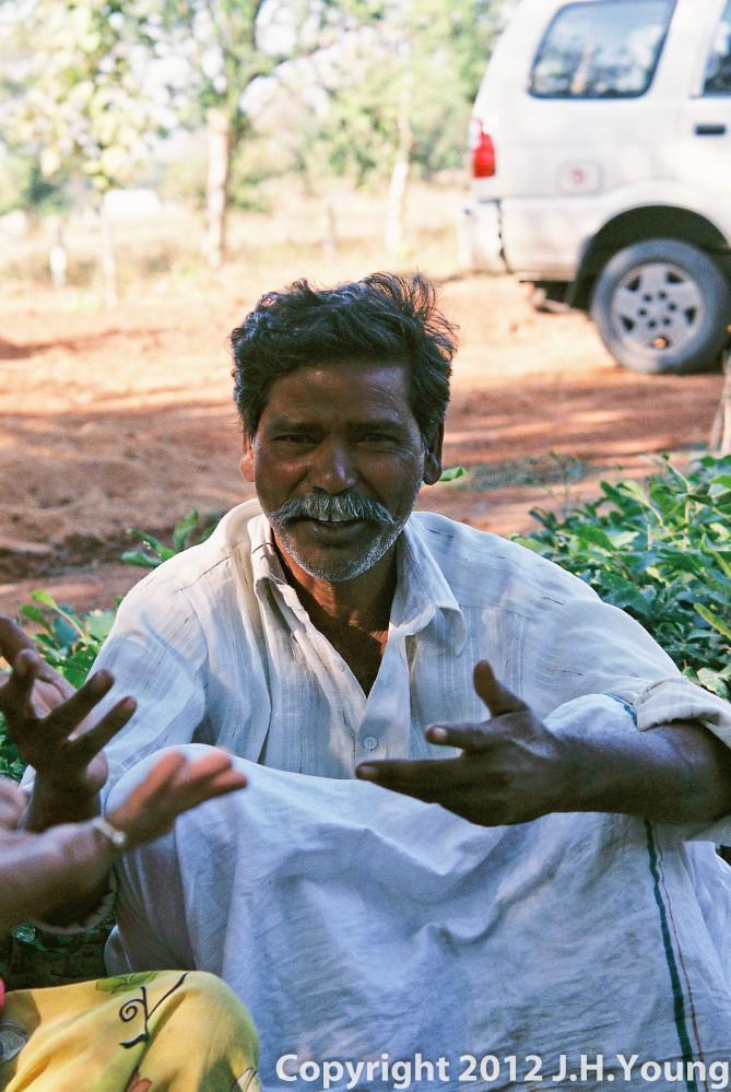Men after village meeting