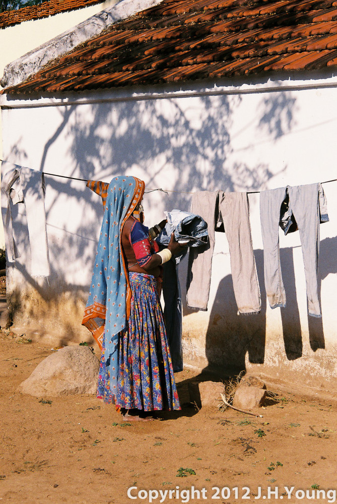 Women in a village in central India