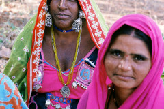 Women at a village meeting in central India
