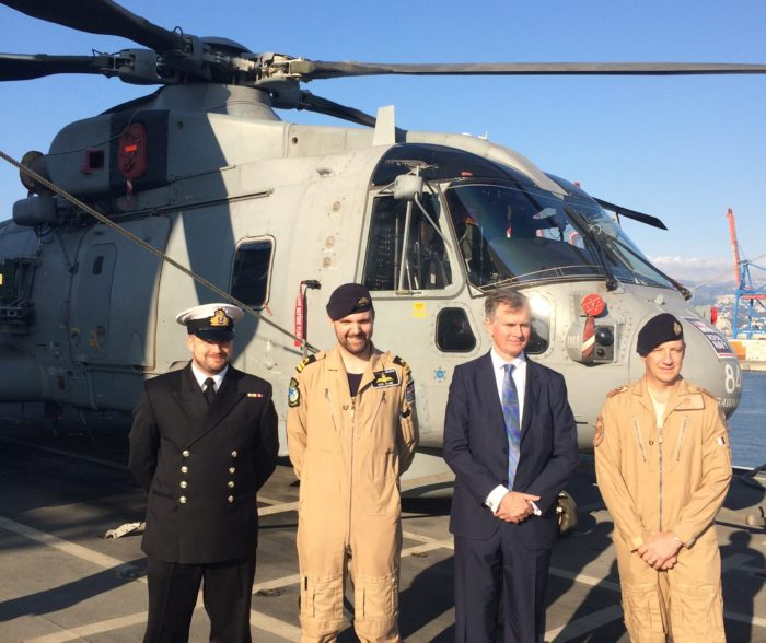 UK Ambassador on HMS Ocean in Beirut Brexit