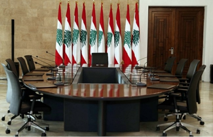The dialogue round table at Baabda Palace where meetings of political leaders take place. File - Thursday, June 22, 2017. (The Daily Star/ Dalati&Nohra, HO)